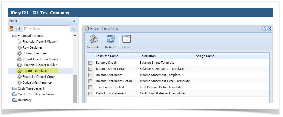 How Trial Balance Detail should be setup to roll over Retained